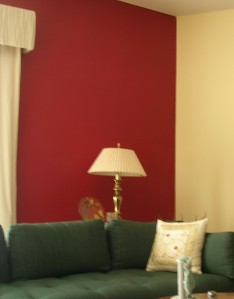 Our red wall